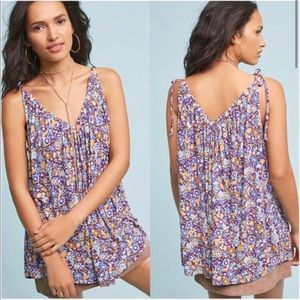 Anthropologie Pure + Good Julian Ditsy Floral Tank